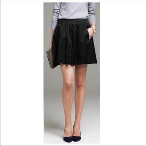 Banana Republic Black Faille Shine Pocket Skirt